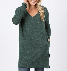Hunter Green Soft Knit Tunic