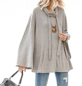 Heather Grey Poncho