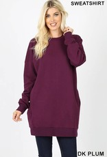 Dk Plum Oversized Sweatshirt