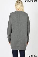 Grey Oversized Sweatshirt