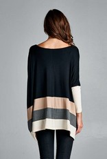 Black Colorblock Top