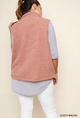 Mauve Cozy Vest