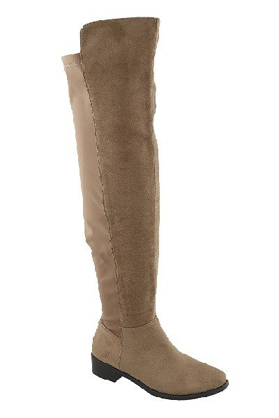 Taupe Thigh-High Boots