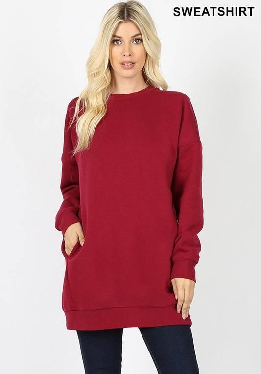 Burgundy Oversized Sweatshirt