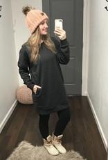 Charcoal Over-Sized Sweatshirt