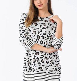 Leopard/Stripe Tunic
