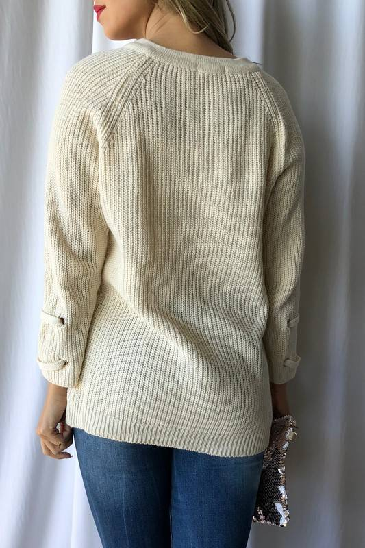 Off-White Criss Cross Sweater