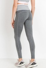High Waist Heather Grey Leggings