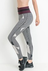 High Waist Black/Plum Leggings