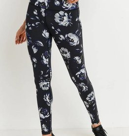 High-Waist Midnight Rose Leggings