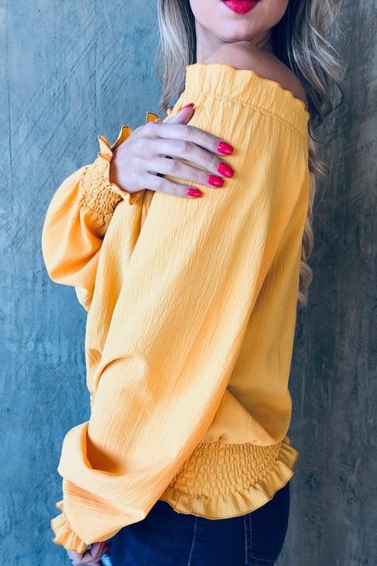 Mustard Off-Shoulder Top