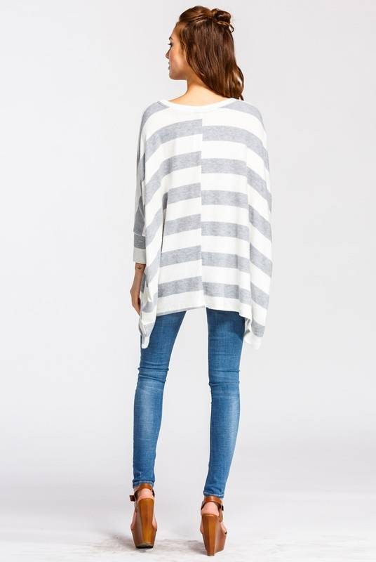 Ivory Striped Top