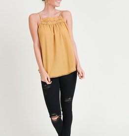Mustard Embroidery Tank
