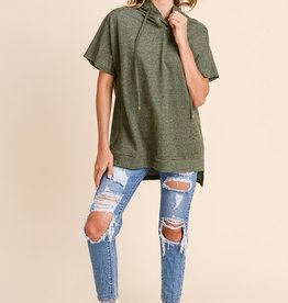 Olive Lace-Up Tunic