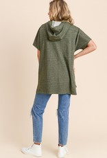 Olive Lace-Up Tunic