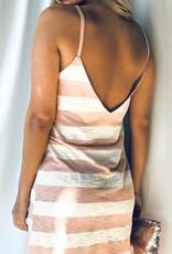 Peach Striped Dress