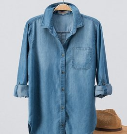 Denim Button-Up