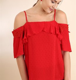 Red Off shoulder Top