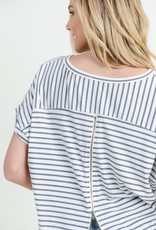 Charcoal Stripe Top