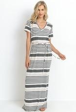 Charcoal Striped Maxi