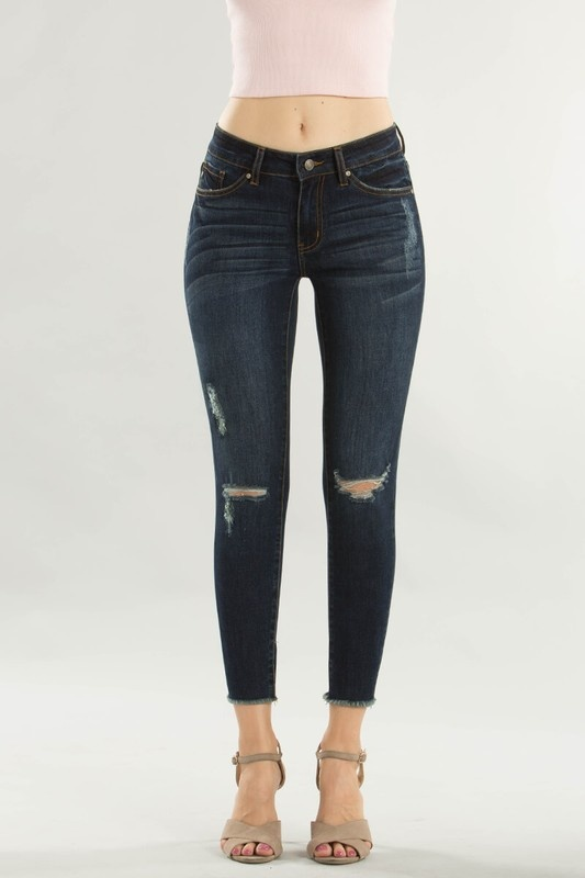 KC Frayed Ankle Skinny