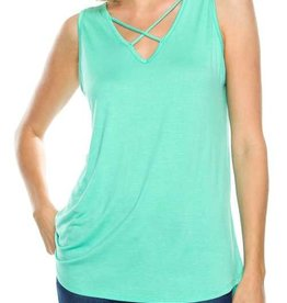 Mint Criss Cross Tank