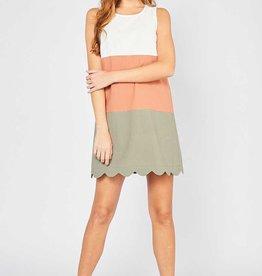 Marsala Colorblock Dress