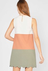 Marsala Colorblock Dress