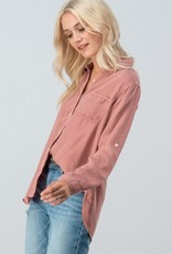 Dusty Rose Button-Up