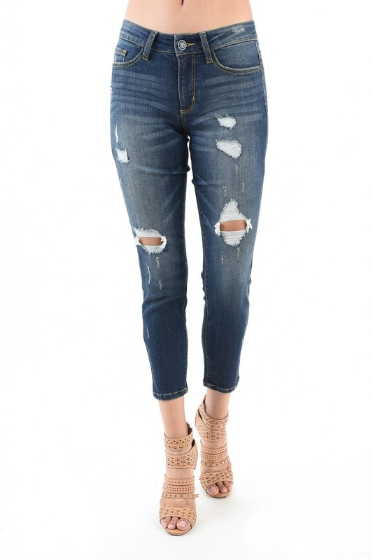 JB Destructed Boyfriend Jean