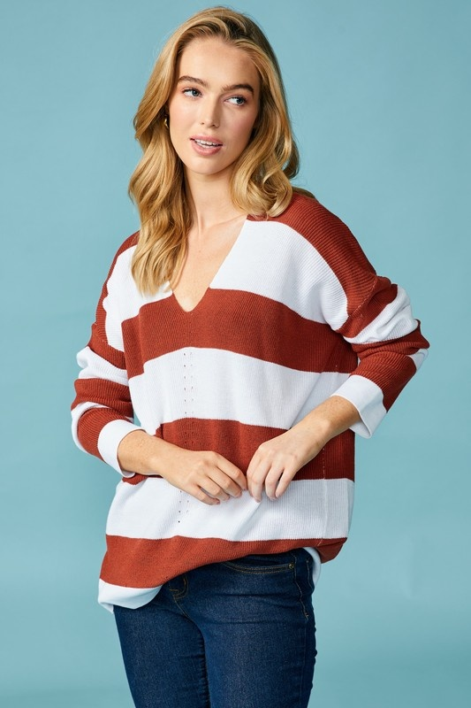 Brick Striped Sweater