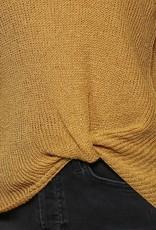 Mustard Front Tie Top
