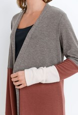 Rust/Mocha Colorblock Cardigan