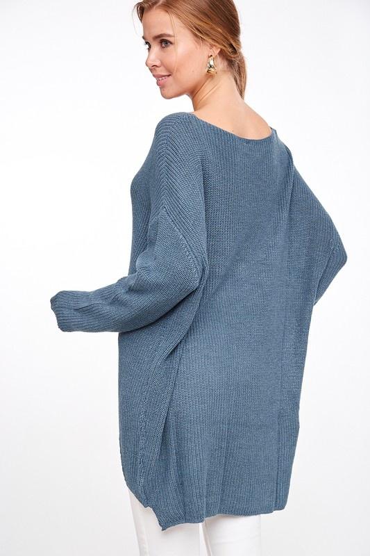 Slate High-Low Sweater