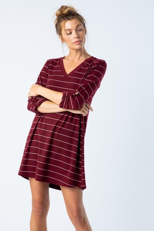 Wine Stripe Tunic