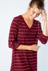 Wine Stripe Tunic