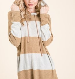 Mustard Striped Soft Knit Tunic