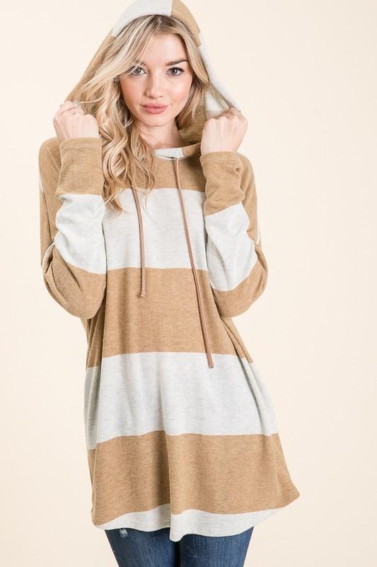 Mustard Striped Soft Knit Tunic
