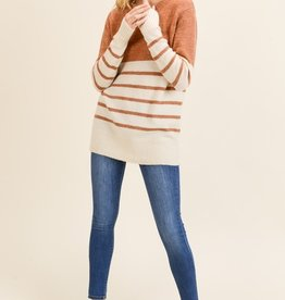 Pumpkin Spice Striped Sweater