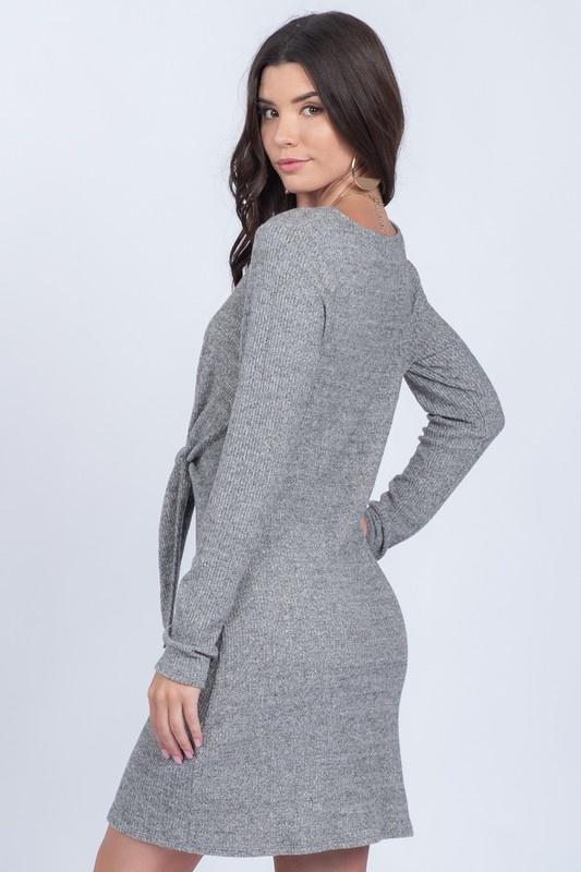 Grey Knit Dress