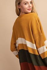 Mustard Colorblock Cardigan