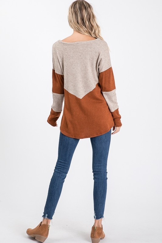 Rust/Taupe LS Top