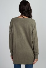 Heather Olive Soft Knit Sweater