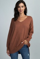 Heather Ginger Soft Knit Sweater