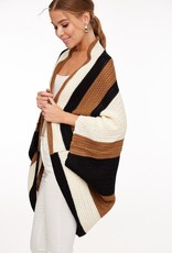 Colorblock Batwing Poncho