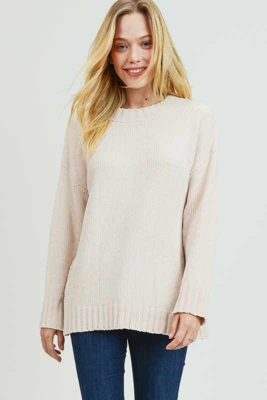 Ivory Chenille Sweater