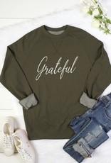 Olive Grateful Pullover