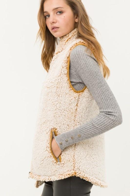 Mustard Sherpa Vest