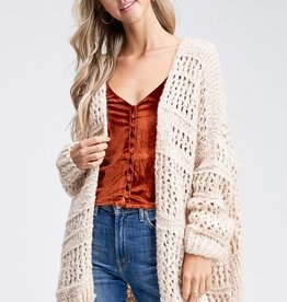 Cream Crochet Cardigan