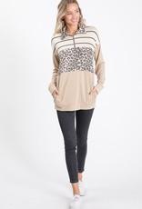 Mocha/Stripe/Leopard Pullover